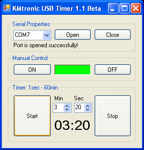 KMtronic Ltd: USB Relay Controller One Channel