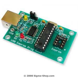 USB 25xxx SPI Bus E-Eprom programmer - Microchip, ATMEL