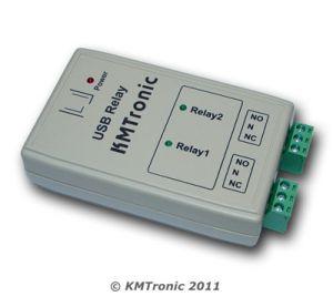 Relè USB, Due Canali Relè, BOX, FTDI chip