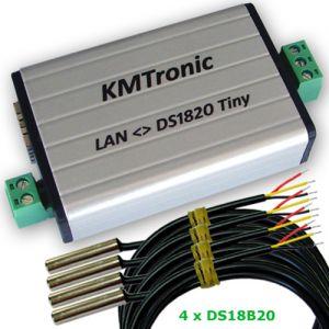 LAN DS18B20 MODBUS Temperature Monitor 4 Sensors Complete